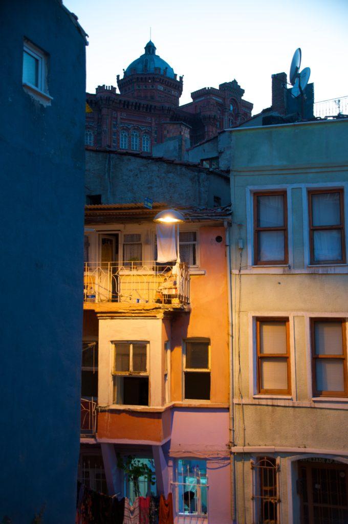 Night Scene, Phanar Greek Orthodox College (Özel Fener Rum Lisesi), Istanbul